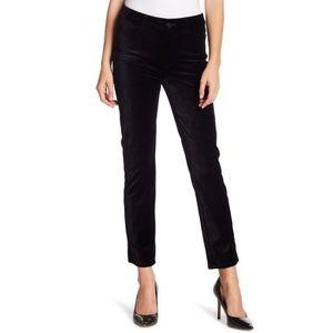 Paige Jacqueline Straight Crop Black Velvet Jeans